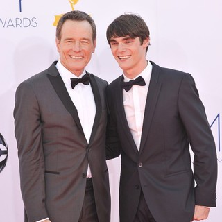 Bryan Cranston, RJ Mitte in 64th Annual Primetime Emmy Awards - Arrivals