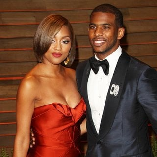 Jada Crawley, Chris Paul in 2014 Vanity Fair Oscar Party