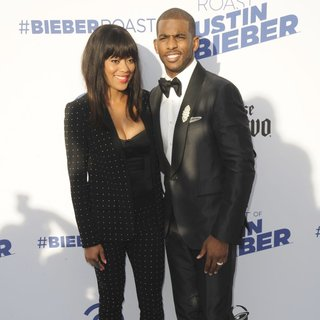 Jada Crawley, Chris Paul in Comedy Central Roast of Justin Bieber - Arrivals