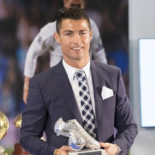 Cristiano Ronaldo Attends A Ceremony for Becoming Real Madrid\'s All-Time Leading Scorer