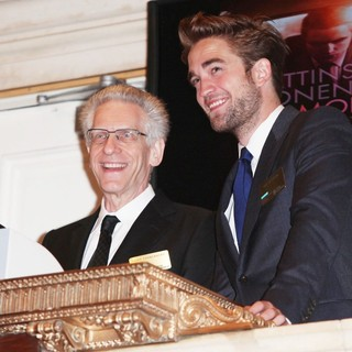 Robert Pattinson - David Cronenberg and Robert Pattinson Visit The New York Stock Exchange to Ring The Opening Bell