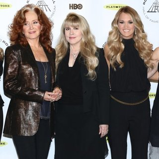 Sheryl Crow, Bonnie Raitt, Stevie Nicks, Carrie Underwood, Emmylou Harris in 29th Annual Rock and Roll Hall of Fame Induction Ceremony