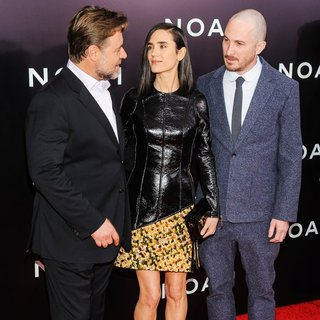 Russell Crowe, Jennifer Connelly, Darren Aronofsky in Noah New York Premiere