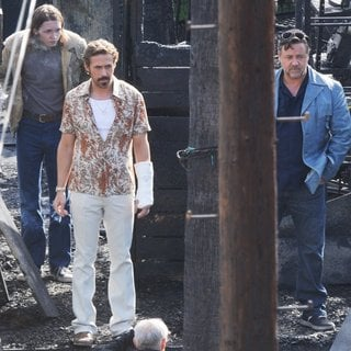 Ryan Gosling, Russell Crowe in On The Set of Movie The Nice Guys Filming