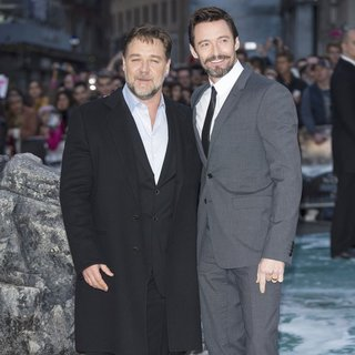 Russell Crowe, Hugh Jackman in U.K. Premiere of Noah - Arrivals