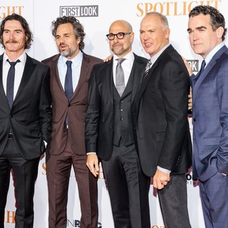 Billy Crudup, Mark Ruffalo, Stanley Tucci, Michael Keaton, Brian d'Arcy James in New York City Premiere of Spotlight