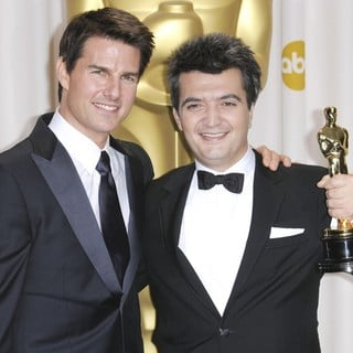 Tom Cruise, Thomas Langmann in 84th Annual Academy Awards - Press Room