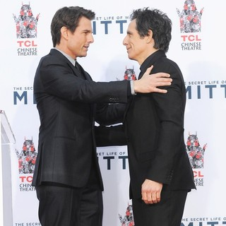 Tom Cruise, Ben Stiller in Ben Stiller Hand and Footprint Ceremony