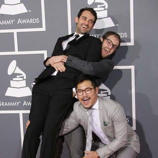 Gaetano Crupi, Daniel Scheinert, Daniel Kwan in 55th Annual GRAMMY Awards - Arrivals