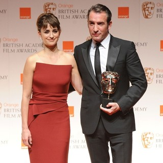 Penelope Cruz, Jean Dujardin in Orange British Academy Film Awards 2012 - Press Room
