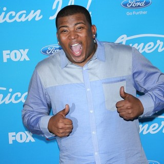 Curtis Finch Jr. in FOX's American Idol Finalists Party