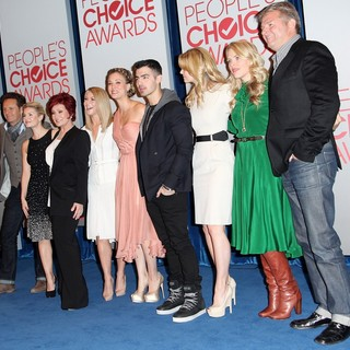 Mark Burnett, Elisha Cuthbert, Sharon Osbourne, Julianne Hough, Kaley Cuoco, Joe Jonas, Jennifer Morrison, Busy Philipps, Fred Nelson in People's Choice Awards 2012 Nominations Press Conference