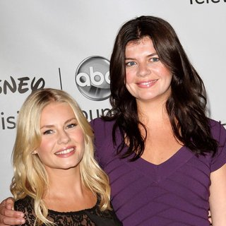 Elisha Cuthbert, Casey Wilson in 2011 Disney ABC Television Group Host Summer Press Tour