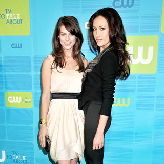 Lyndsy Fonseca, Maggie Q in 2010 The CW Network UpFront - Arrivals