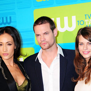 Maggie Q, Shane West, Lyndsy Fonseca in 2010 The CW Network UpFront - Arrivals