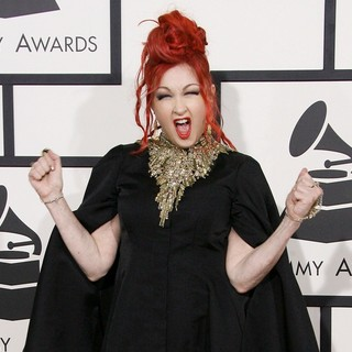 Cyndi Lauper in The 56th Annual GRAMMY Awards - Arrivals