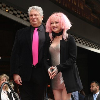 Harvey Fierstein, Cyndi Lauper in Cyndi Lauper and Harvey Fierstein Honored with A Double Walk of Fame Star