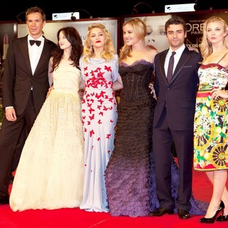 James D'Arcy, Andrea Riseborough, Madonna, Abbie Cornish, Oscar Isaac, Natalie Dormer in The 68th Venice Film Festival - Day 2 - W.E. - Red Carpet