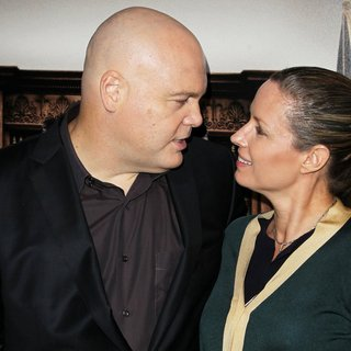 Vincent D'Onofrio, Carin van der Donk in Premiere of Warner Bros. Pictures and Village Roadshow Pictures' The Judge