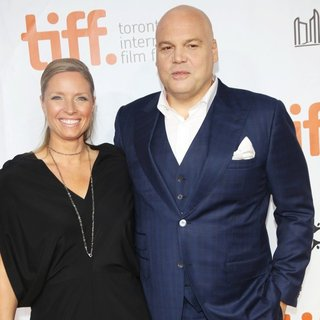 Carin van der Donk, Vincent D'Onofrio in 2014 Toronto International Film Festival - The Judge - Premiere