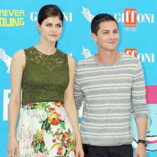 Alexandra Daddario, Logan Lerman in Percy Jackson - Photocall
