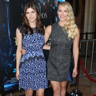 Alexandra Daddario, Leven Rambin in Percy Jackson: Sea of Monsters Premiere