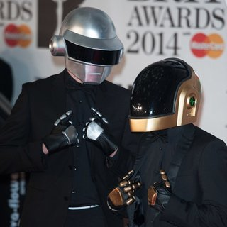 Daft Punk in The Brit Awards 2014 - Arrivals