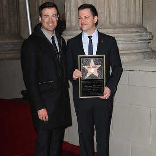 Carson Daly, Jimmy Kimmel in Jimmy Kimmel Honored with A Star on The Hollywood Walk of Fame