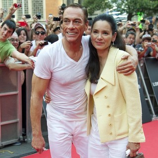 Jean-Claude Van Damme, Gladys Portugues in Spanish The Expendables 2 Premiere