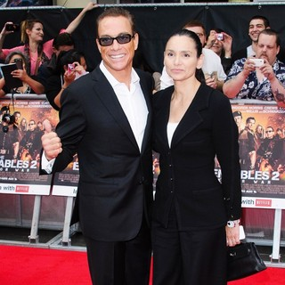 Jean-Claude Van Damme, Gladys Portugues in The Expendables 2 UK Premiere - Arrivals