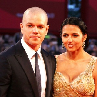 Matt Damon, Luciana Barroso in The 68th Venice Film Festival - Day 4 - Contagion - Premiere- Arrivals
