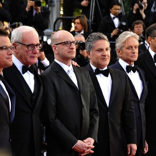 Matt Damon, Jerry Weintraub, Steven Soderbergh, Scott Thorson, Michael Douglas, Richard LaGravenese in 66th Cannes Film Festival - Behind the Candelabra Premiere