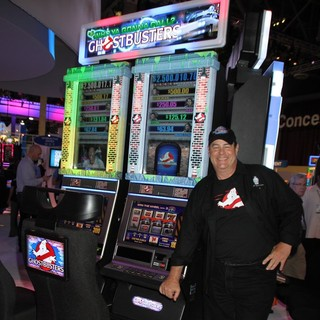 Dan Aykroyd Unveils Ghostbusters Slot Machine and Cuts Ribbon at The Global Gaming Expo 2011