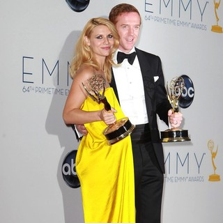 Claire Danes, Damian Lewis in 64th Annual Primetime Emmy Awards - Press Room