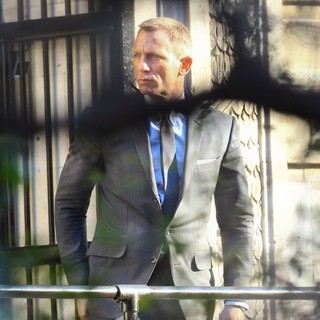 Daniel Craig in On The Set of The New James Bond Film Skyfall