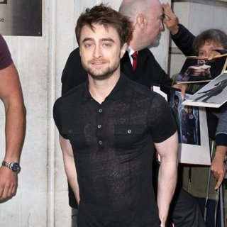 Daniel Radcliffe in Daniel Radcliffe Arriving at The Radio 2 Studio