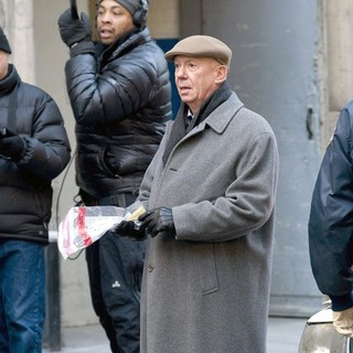 Dann Florek in The Film Set of  Law and Order: Special Victims Unit