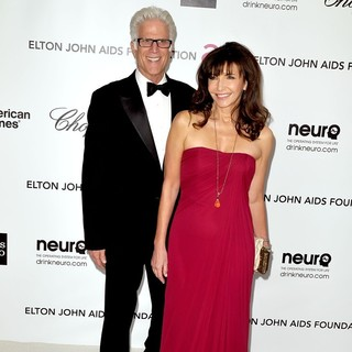 Ted Danson, Mary Steenburgen in The 20th Annual Elton John AIDS Foundation's Oscar Viewing Party - Arrivals