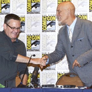 Eric Darnell, John Malkovich in San Diego Comic-Con International 2014 - Penguins of Madagascar Press Conference
