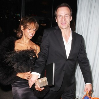 Stacey Dash, Emmanuel Xuereb in Stacey Dash with Emmanuel Xuereb Leaving An Event