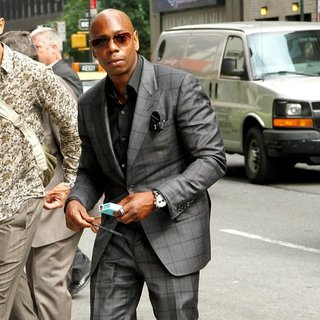 Dave Chappelle in Celebrities Taping on The Late Show with David Letterman