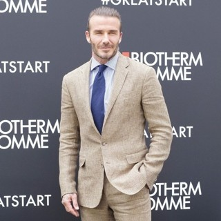 David Beckham - A Photocall for Biotherm Homme