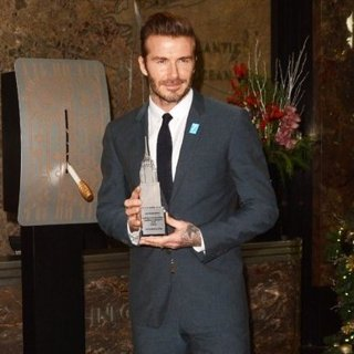 David Beckham - David Beckham Lights The Empire State Building Blue in Honor of UNICEF's 70th Anniversary