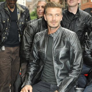 David Beckham in The Belstaff: Off Road-David Beckham Book Signing