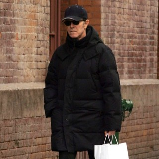 David Bowie Returning Home After Shopping at Dean and Deluca