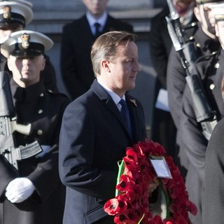 David Cameron in Sunday Commemorating Sacrifices of The Armed Forces