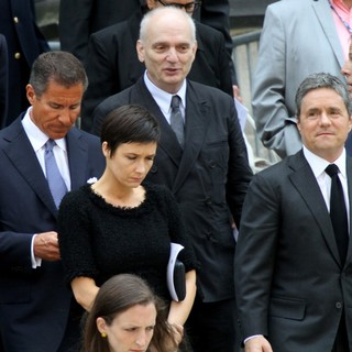David Chase in The Funeral Service for Actor James Gandolfini