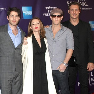 David Giuntoli, Marguerite Moreau, Jason Gray-Stanford, David Fuit in 2012 Tribeca Film Festival - Caroline and Jackie Premiere - Arrivals