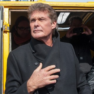 David Hasselhoff in A Demonstration Against The Removal of One of The Last Reamining Sections of The Berlin Wall