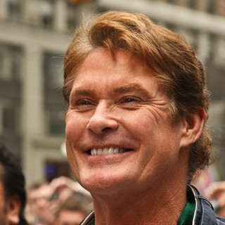 David Hasselhoff in The Gumball 3000 International Car Rally Starting Point
